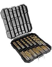Yaegoo 99 PCS Titanium Twist Drill Bit Set - High Speed Steel for Metal, Steel, Wood, Plastic, Copper, Aluminum Alloy with Storage Case