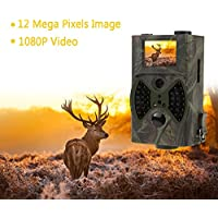 Docooler 2.0Inch 12 Megapixel (12 MP) IP54 Waterproof Digital Infrared Trail Camera Scouting Surveillance Hunting Camera 940NM IR LED HC300A