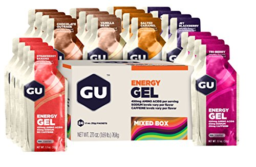 GU Original Sports Nutrition Energy Gel Variety Pack, 24 Count