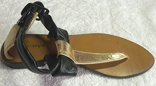 LACEYS LONDON Sandales Pour Femme Or Black Golden