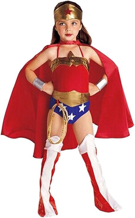 Lemonkid Disfraz de Supergirl Mujer Maravilla para Halloween y ...