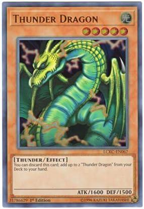 Yugioh Thunder Dragon LCKC-EN067 Ultra Rare 1st Edition