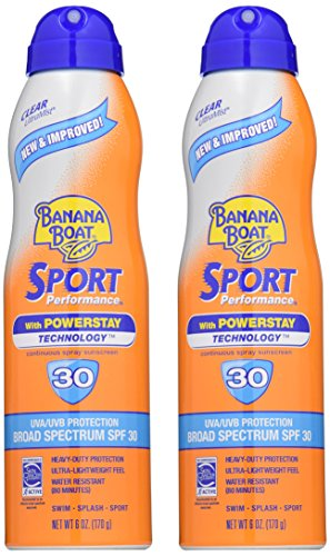 Banana Boat Sunscreen Sport Performance Broad Spectrum Sunscreen Spray, SPF 30, 6 ounces (Pack of 2) by Banana Boat (Image #2)