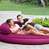 Air Mattress Inflatable bed backrest half lying sofa camping home-D