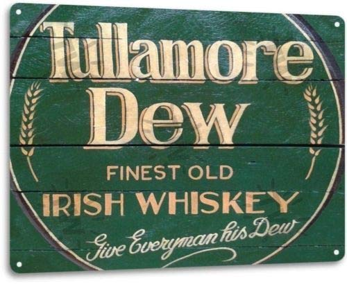 ShopForAllYou Vintage Decor Signs Tullamore Dew Irish Whiskey Logo Retro Wall Decor Bar Man Cave Metal Tin ()
