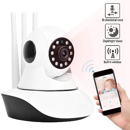 WiFi Wireless HD IP Monitor Camera IR with 3 Antennas