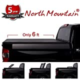 1996 ford ranger tonneau cover - North Mountain 1pc 6' Black Vinyl Clamp On Soft Tri-Fold Top Mount Tonneau Cover Assembly w/Mounting Hardware+Sealing Strip+Bolts For 83-11 Ranger 94-10 B-Series w/o Utility Track