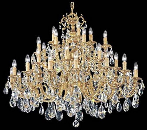 Classic Lighting 5736 SBB C Princeton, Crystal Cast Brass, Chandelier, 48