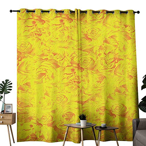 Sweetheart Roses Block - Roses Decorations Collection Exclusive home curtains Lots of Different Size Roses Like Garden Artistic Creative Graphic Design for Sweetheart Block most light and ultraviolet light W96