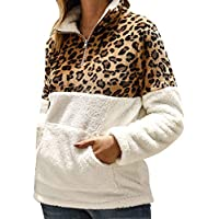 Tinani Leopard Autumn Winter Faux Long Sleeves Womens Casual Sweater