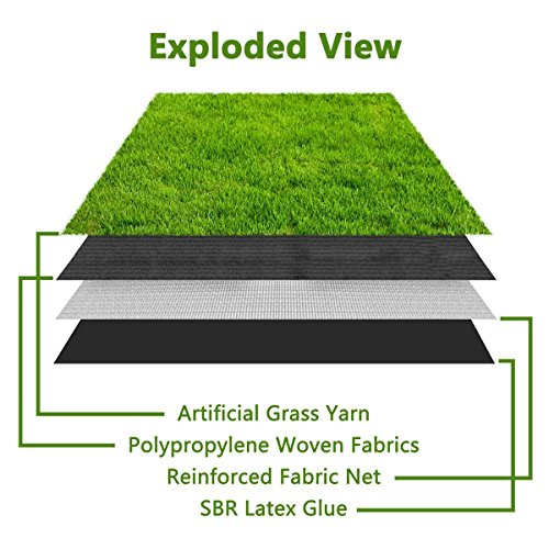 Synthetic Turf Artificial Lawn Grass Indoor Outdoor Premium Realistic Landscape (6.5 ft X 13 ft = 84.5 sqf) by CBEC (Image #2)