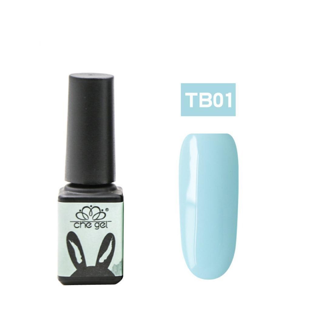 Gaddrt CHE GEL Blaue Serie Nagelpolitur UV Gel Nagellack Tränken weg Nail Art Topcoat Romantic Blue Gel (F)