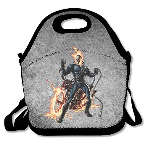 Bakeiy Ghost Rider Lunch Tote Bag Lunch Box Neoprene Tote For Kids And Adults For Travel And Picnic (Costume De Moine)