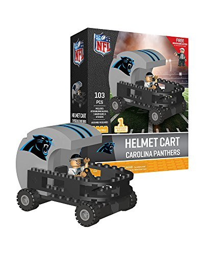 Carolina Panthers OYO Sports Helmet Cart with Minifigure 103PCS - Football Helmet Cart