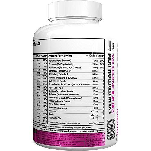 Evlution Nutrition Womens Daily Multivitamin Supplement - Biotina, Vitaminas A B C D E, Calcio, Zinc, Luteina, Magnesio, Manganesio y Más, Multivitamínicos ...