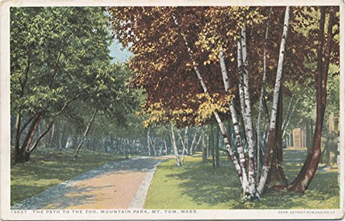 (Historic Pictoric Postcard Print | Path to Zoo, Mountain Park, Mt. Tom, Mass, 1898 | Vintage Fine Art)