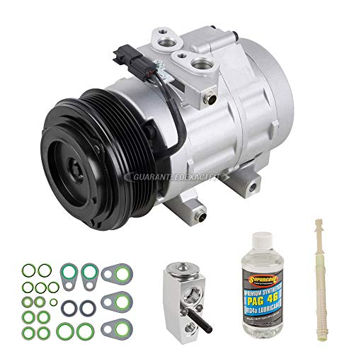 AC Compressor w/A/C Repair Kit For Ford F150 F-150 V8 Expedition Navigator 2009 2010 2011 2012 2013 2014 - BuyAutoParts 60-81390RK NEW (Compressor F150 A/c)