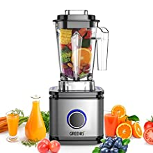 GREENIS Professional High Speed Countertop Blender 1400W Commercial Smoothies Mixer with BPA Free Tritan Jar for Kitchen Shakes Frozen Drinks