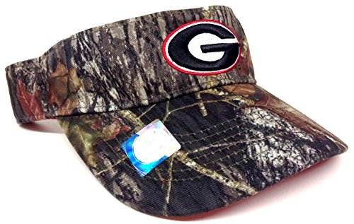Visor Georgia Bulldogs Mossy Oak Camouflage Camo Hat ()