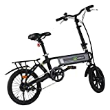 Goplus 120W Lightweight Folding Electric Bicycle Sport Bike (Small Image)