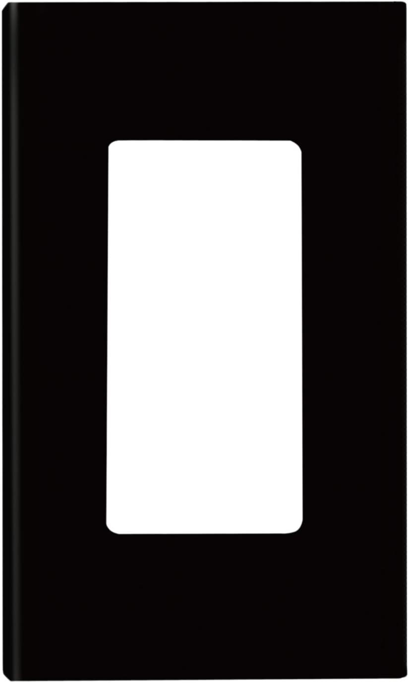 Leviton 936-80301-0SE 80301-SE 1-Gang Decora Plus Wallplate Screwless Snap-On Mount, Black, 1-Pack
