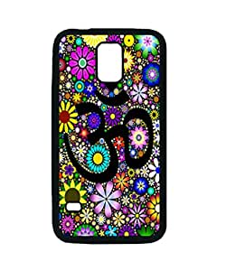 S5 Rubber Case - Aum Flowers Patterned Protective Skin Case Cover for Samsung Galaxy S5 i9600 - Haxlly Designs Case