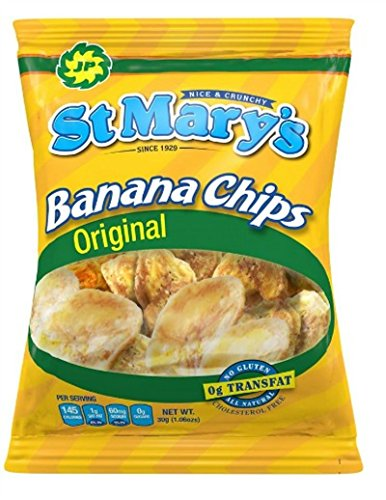 St. Mary's Banana Chips, 1.06 Ounce (Pack of - Banana Chips Chippies