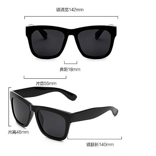Burenqiq Gafas de Sol polarizadas Retro Square Gafas polarizadas Gafas de Sol Trendy Gafas de Sol para Hombres, Negro Brillante Azul Hielo: Amazon.es: ...