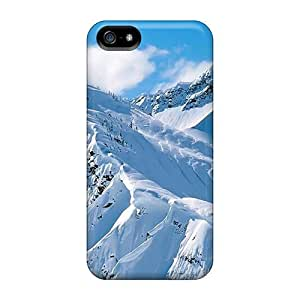 For Iphone 5/5s Fashion Design Snow Mountain Case-JRNCYCu6078DWCNJ by supermalls