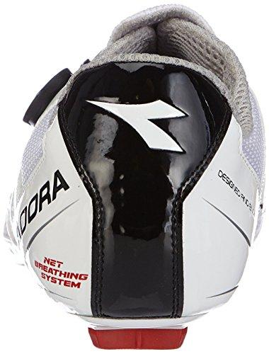 Diadora VORTEX Racer - Zapatillas de ciclismo de material sintético para mujer Blanco (Blanco/Negro 3510)