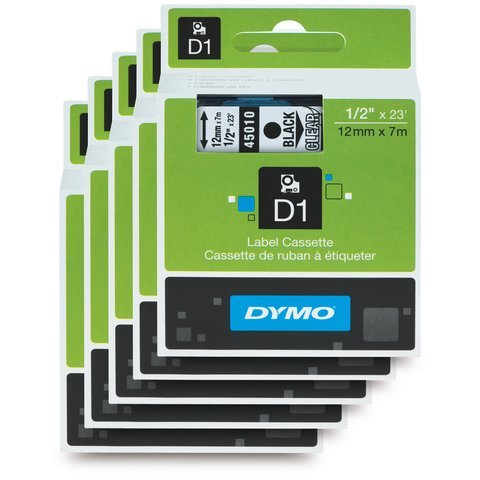 dymo-standard-d1-labeling-tape-for-labe-lmanager-label-makers-black-print-on-clear-tape-1-2-w-x-23-l