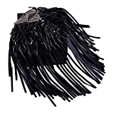 Stylish & Attractive Pair of Rivet Tassel Chain Epaulet Shoulder Boards Badge Carnival Costumes Accessories