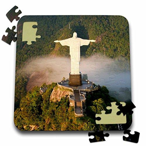 Danita Delimont - Religion - Christ the Redeemer on Corcovado mountain, Rio, Brazil. - 10x10 Inch Puzzle (Corcovado Christ Redeemer Statue)