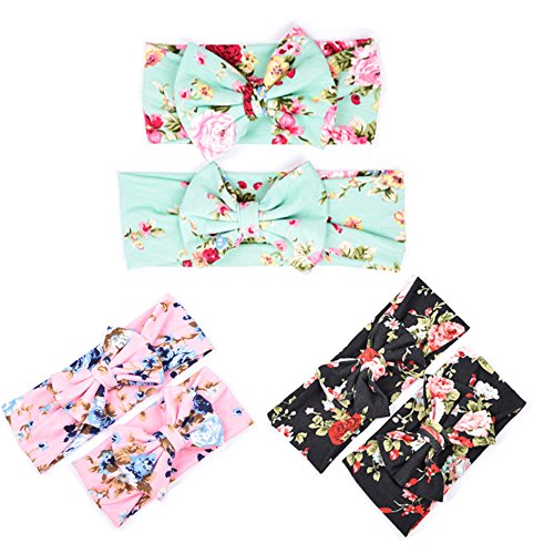 DANMY Women and Baby Soft Headband Elastic Headbands With Bow Toddler Hair Accessories (THR - Great Website Mall