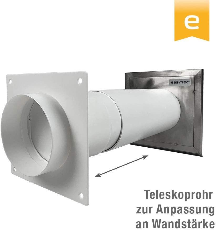 AL125-90 Bogen 90/° L/üftungsrohr ABS Rundrohr /Ø 125 Abluft-Rohr 125 mm PVC