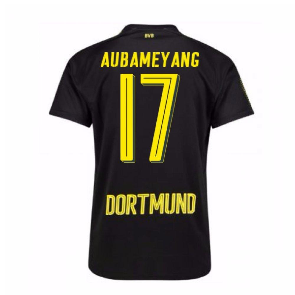2017-18 Borussia Dortmund Away Shirt (Aubameyang 17) B0784978RBBlack Large Adults