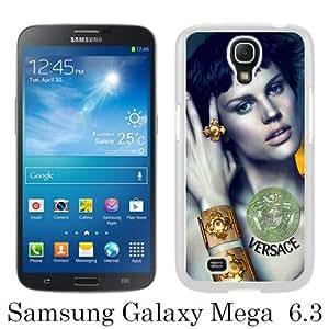 Beautiful Samsung Galaxy Mega 6.3 I9200 I9205 Screen Cover Case ,VERSACE 1 White Samsung Galaxy Mega 6.3 I9200 I9205 Cover Fashionabe And Durable Designed Phone Case