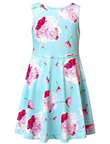 Jxstar-Girls-Summer-Dress-Sleeveless-Printing-CasualParty-3-13Years