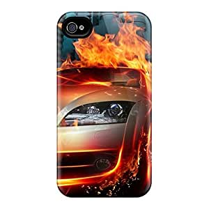 Quality Phone Case Case Cover With Fire Car Nice Appearance Compatible With Iphone 4/4s