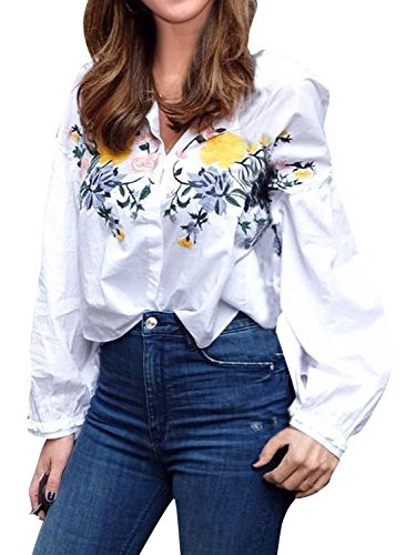 Glamaker Womens Casual Embroidery Sleeves product image