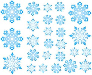Beau Christmas Snowflakes Repositional And Removable Wall Decal Wall Sticker Wall  Decor
