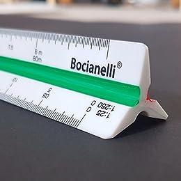 """Professional 30cm 12"""" Metric Plastic Triangular Scale Ruler 1:10 1:20 1:25 1:30 1:40 1:50 / 1:100 1:200 1:250 1:300 1:400 1:500 in a Case"""