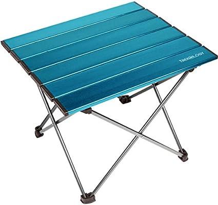 Trekology mesas portátiles auxiliares de Camping con Superficie de ...
