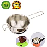 Double Boiler Pot Pots Double Boiler Stainless Steel Chocolate Melting Pot Chocolates Universal Melting Pot Candy Bowl Small for Candle Making Wafers Mini with Spout Soap Making Large by MSART (mid)