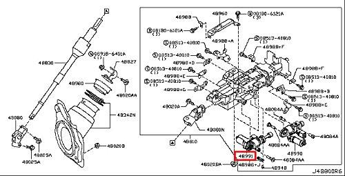 Infiniti Genuine Steering Steering Column Telescopic Motor Assy 48991-1LB6B QX80/QX56 M37/56 M - Steering Column Assy