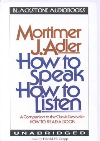 How to Speak, How to Listen (Library Edition)