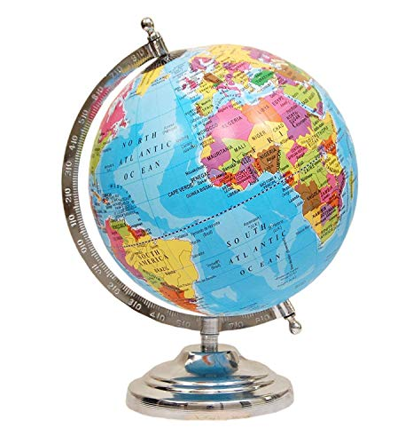 MOM'S GADGETS 8 Inch Globe for Office Table/Globes for Student/World map Globe/Home Decor/Office Globe/Political Globe…