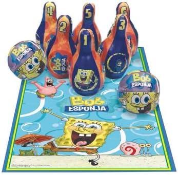 Cefa - Bolos Bob Esponja 6 Piezas con 2 Pelotas Y Tapete 15-90180 ...