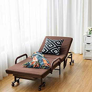 Amazon Com Giantex Folding Guest Bed Frame With Mattress