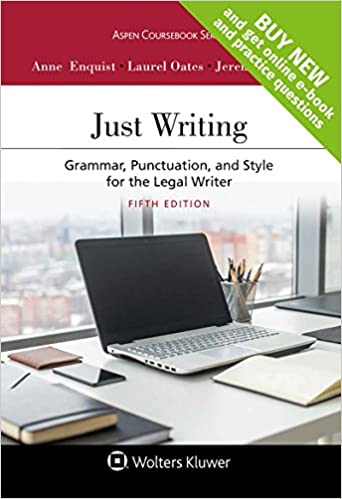 Grammar Punctuation and Style for the Legal Writer Just Writing